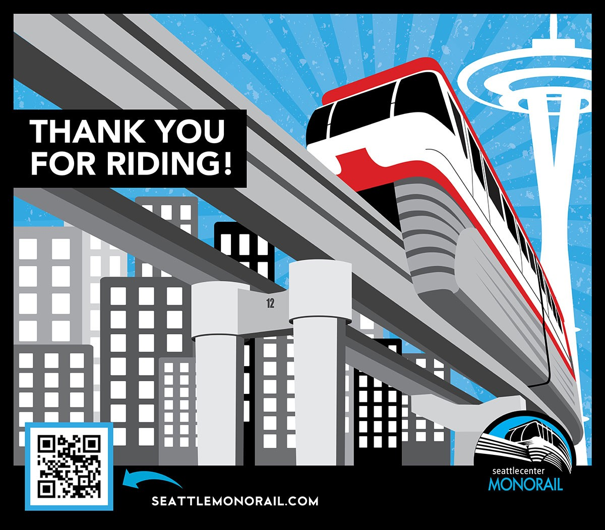 Seattle Monorail Loading Zone Signage