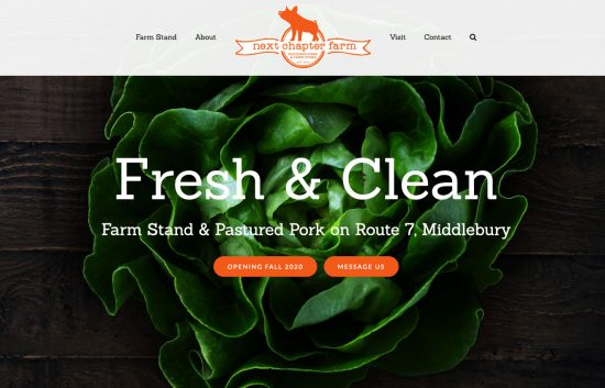 Next Chapter Farm Website designed w Wordpress