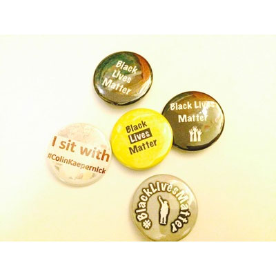 "5 Pack of 1.5"" Black Lives Matter Buttons"