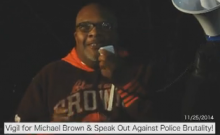 Vigil for Michael Brown: Speak Out Against Police Brutality