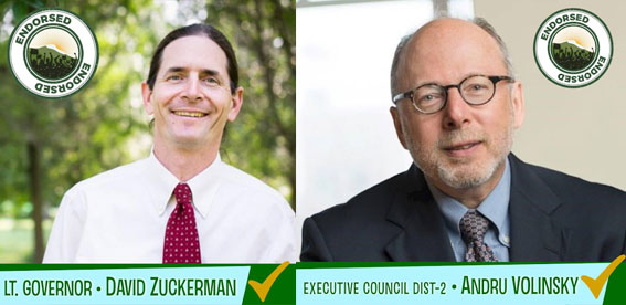 RAD CHAMPS VT LG ZUCKERMAN, NH EX. COUNCILOR VOLINSKY WIN BIG