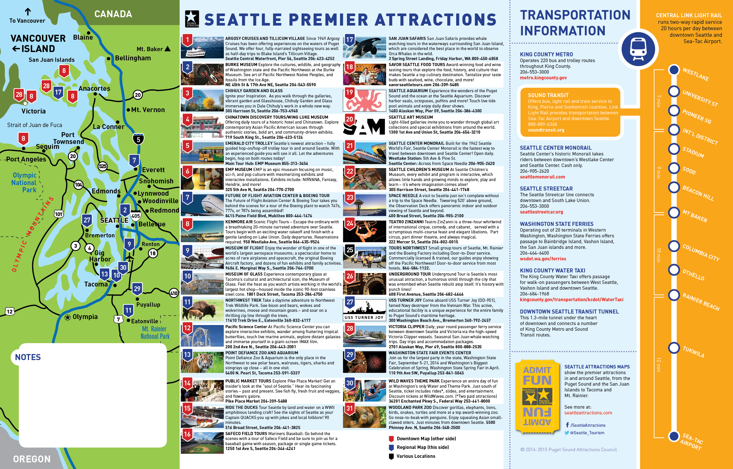 Seattle Tourist Map – Seattle Tourist Attractions Map