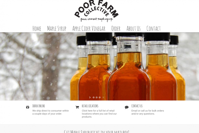 Poorfarm Farm Collective Vermont Maple Syrup